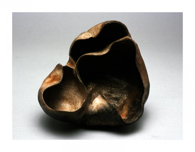 compartmental vessel, ceramic vessel by Pam Taggart